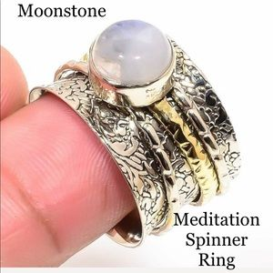 Jewelry - Moonstone Spinner Ring✨Two Tone